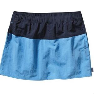 Patagonia Blue Baggies Nylon Skirt